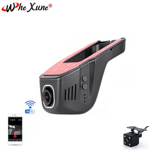 WHEXUNE Novatek 96658 WIFI coche DVR Dash Cam Full HD 1080P HD lente Dual de la visión nocturna de conducción grabadora de grabación de vídeo Dash Camera