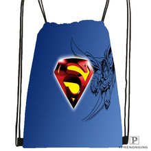Custom Superman Drawstring Backpack Bag Cute Daypack Kids Satchel Black Back 31x40cm 180612 02 9
