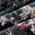 ELF saco Novo Design de Moda de Luxo Para Baixo Casaco Lindo Pássaro Impressão das Mulheres Plus Size Médio-longo Irregular Hem para baixo Casaco