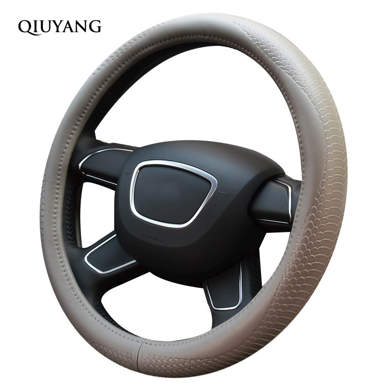 QIUYANG For C-TRIOMPHE Handlebar Braid Drift For Fiat For ODYSSEY Plain For Q5 For Buick Steering Wheel Cover 38cm / 15inch