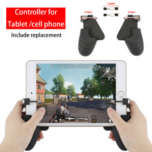 For PUBG Cell Phone Mobile control Gamepad Trigger Fire Button Aim L1R1 Shooter Controller For IOS Ipad Android Xiaomi Joystick(China)
