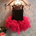 2 шт. девочка сладкий юбки кружевной топ + юбка малыш пузырь тюль юбка