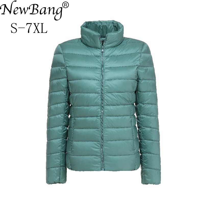 NewBang Brand Women's Down Coat Plus Size Ultra Light Down Jacket Women 6XL 7XL Lightweight Portable WindBreaker Feather Outwear