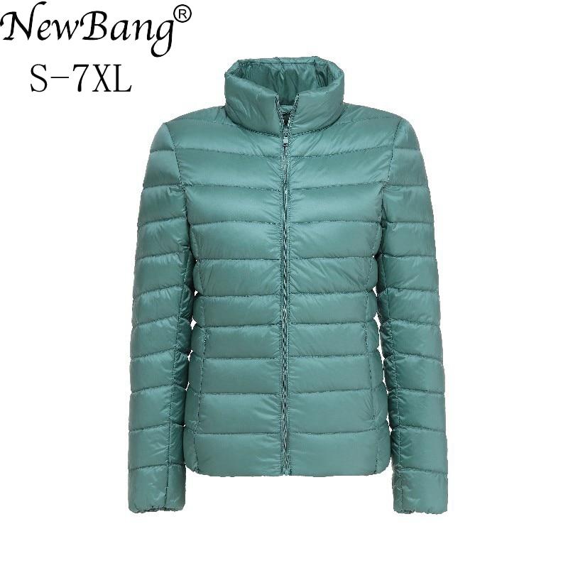 NewBang Brand Women's   Down     Coat   Plus Size Ultra Light   Down   Jacket Women 6XL 7XL Lightweight Portable WindBreaker Feather Outwear