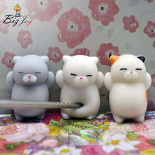 1 PCS Kawaii Morbido Lento Aumento Mochi Squishy Antistress Profumato Mini Animale Presse Spremere Per Bambini di Età di Guarigione Divertente Mitigatore di sforzo(China)
