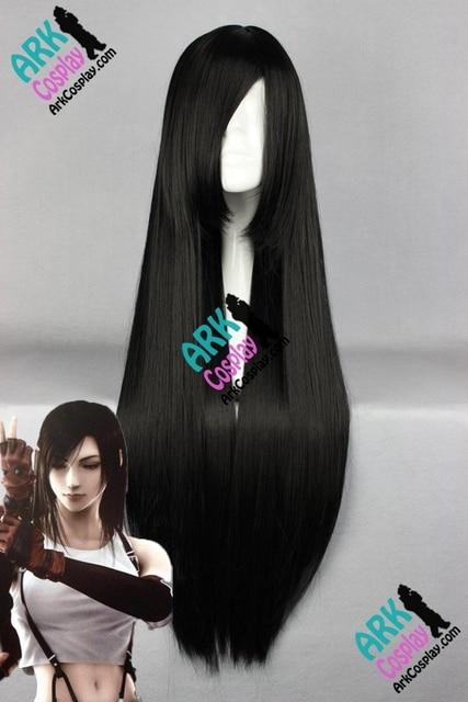 Tifa Lockhart peluca - Final Fantasy pelucas Tifa Cosplay peluca negro para mujer de Final Fantasy VII Cosplay pelucas