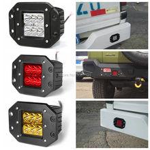 18 Вт Красный светодиодный рабочий свет автомобиля-Стайлинг фара дальнего света внедорожника проектор водостойкая точечная лампа авто для внедорожника 4WD ATV грузовик автомобиль