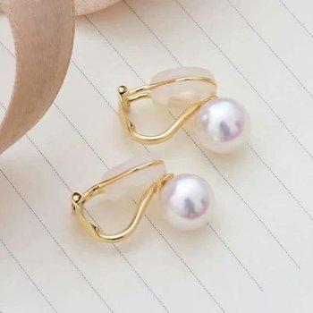 shilovem 18k yellow gold Natural  freshwater pearls stud Earrings fine Jewelry new round women trendy wedding  gift yz8.5-009zz 1