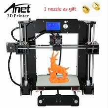 ANET A6 3D Imprimante Amélioré Haute précision 3D Imprimante Prusa i3 3D imprimante Facile Assemblée BRICOLAGE Filament KIT 16 GB SD Carte LCD écran