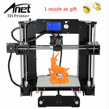 ANET A6 3D Impresora Actualizado Impresora de Alta precisión 3D Prusa i3 3D Filamento impresora Fácil Montaje DIY KIT 16 GB Tarjeta SD LCD pantalla
