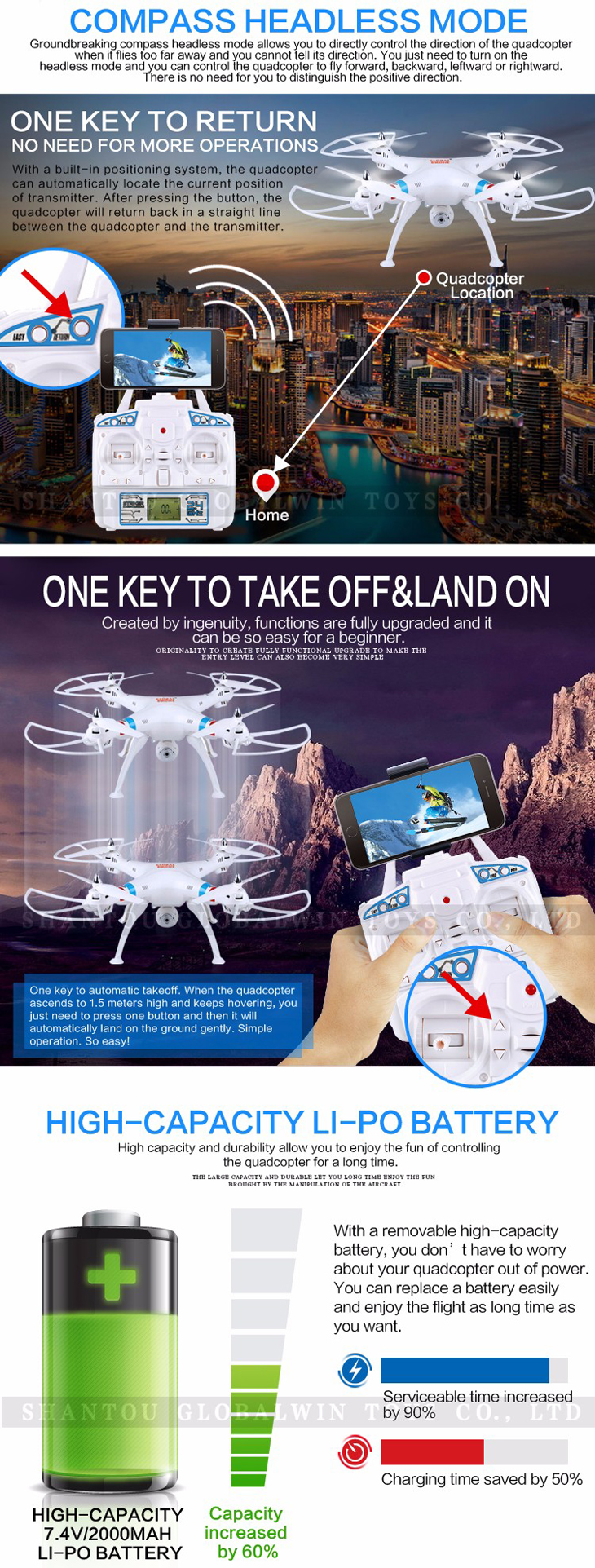 7Global Drone GW180 Dron with Camera WIFI HD FPV Hovering Quadrocopter Can Carry 4K Camera Drones