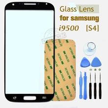 Black Outer Touch Screen Top Glass for Samsung Galaxy S4 i9500 i9505 L720 I337 I545 M919 R970 + 8Tools + Free Adhesives
