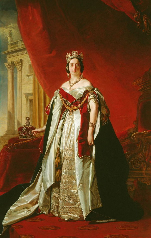 wholesale oil painting # Good quality art # Great Britain Queen Alexandrina Victoria portrait OIL painting ON CANVAS-36 inches