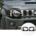Black ABS Bird Style Front Head Light Trim Cover For Suzuki Jimny 2012-2015 2pcs