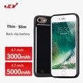 Jlw mais novo 3000 mah & 5000 mah portátil caso carregador de bateria de backup capa para iphone 7 6 6 s casos de 4.7 polegada de carga banco de potência