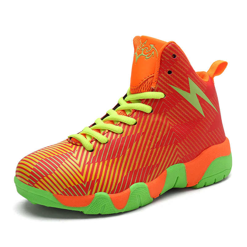 2018 Autumn New Style Boys Basketball Shoes Kids Sneakers Girls Running Shoes Children's Outdoor Sport Training Shoes