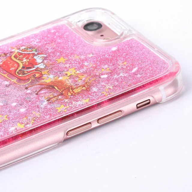 KMAX Phone Hard Case Christmas Gift For iPhone 5 5s 5se 6 6S 7 8 Plus For Samsung S5 S6 S7 Edge Glitter Liquid Quicksand cheap 5