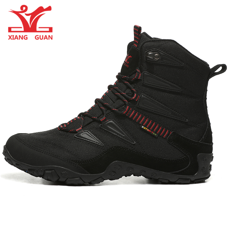 Xiang Guan Man Winter Outdoor Walking Shoes For Women Warmer Snow Boots Antiskid Waterproof Male Trekking