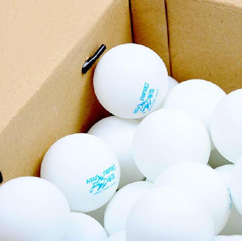 100 Pcs Double Fish Training White 40mm Table Tennis (PingPong) Balls