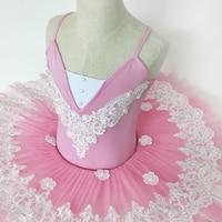 Women Professional Ballet Tutu Costume Child Pink White Ballerina Performance Classical Ballet Tutu Dress Girl 7
