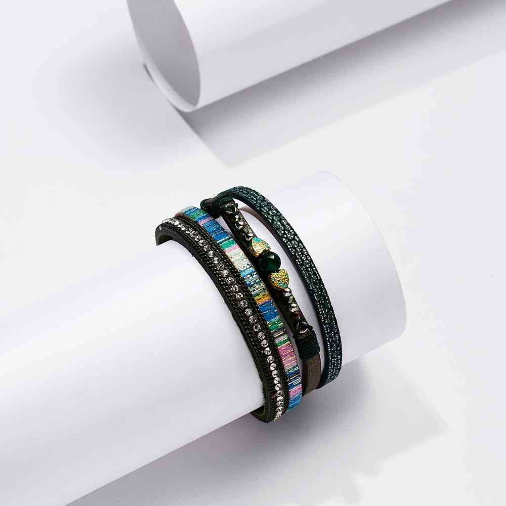 Belleper 9 Design Vintage Bohemian Leather Bracelets Women Men Multilayers Fashion Jewelry Punk Charms Retro Bangle Bracelets