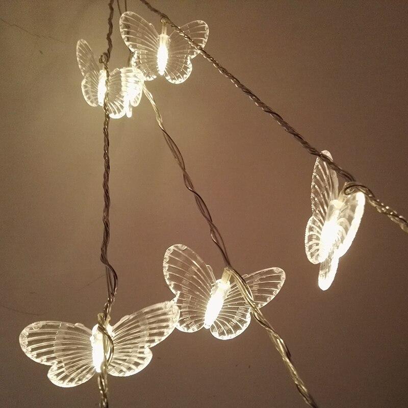 5 м 20 лампочки бабочка из светодиодов гирлянда свет строки сказочные огни для спальни рождественские огни свадебные украшения свет на открытом воздухе