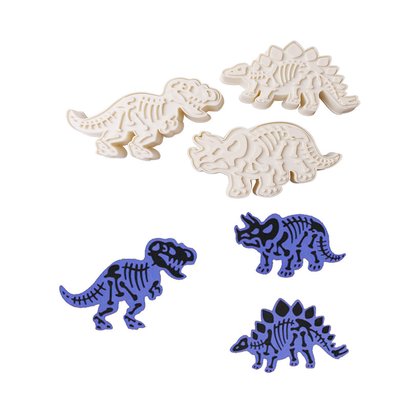 Delidge  1sets Dinosaur Cookie Cutter Mold For Mohamed Nour Dropshipping