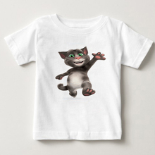 childrens favorite online games can speak Tom cat prints boy T-shirt summer Tshirt and his friends cartoon costumes MJ