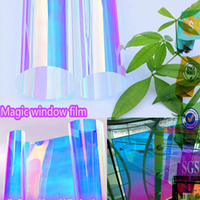 3M Quality Dichroic Iridescent Rainbow Window Film for Decoration 68cm x 1m Sample by DHL express