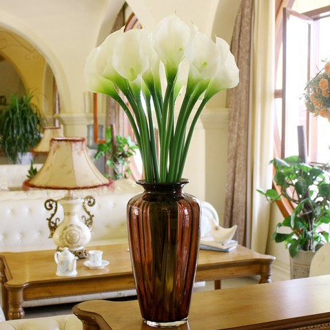 Attrayant (5 Pcs/Lot) Christmas Artificial Fake Real Touch Calla Lilies Silicon  Wedding Flowers Bouquets 3 Color Home Decoration Wholesale In Artificial U0026  Dried ...