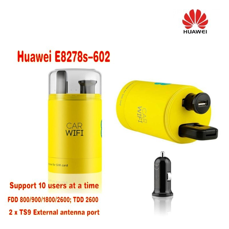 Unlock Huawei E8278s-602 150Mbps USB 3G WIFI TDD/FDD LTE 4G Modem Dongle Router +USB Car charger new original unlock lte fdd tdd 150mbps huawei e8278 4g modem wifi router with sim card slot and 4g lte usb modem
