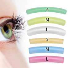 New arrival Colorful Flat&Curl Lashes Patches Reusable Silicone Gel Eye Pads Eyelash Perm Lifting Ci