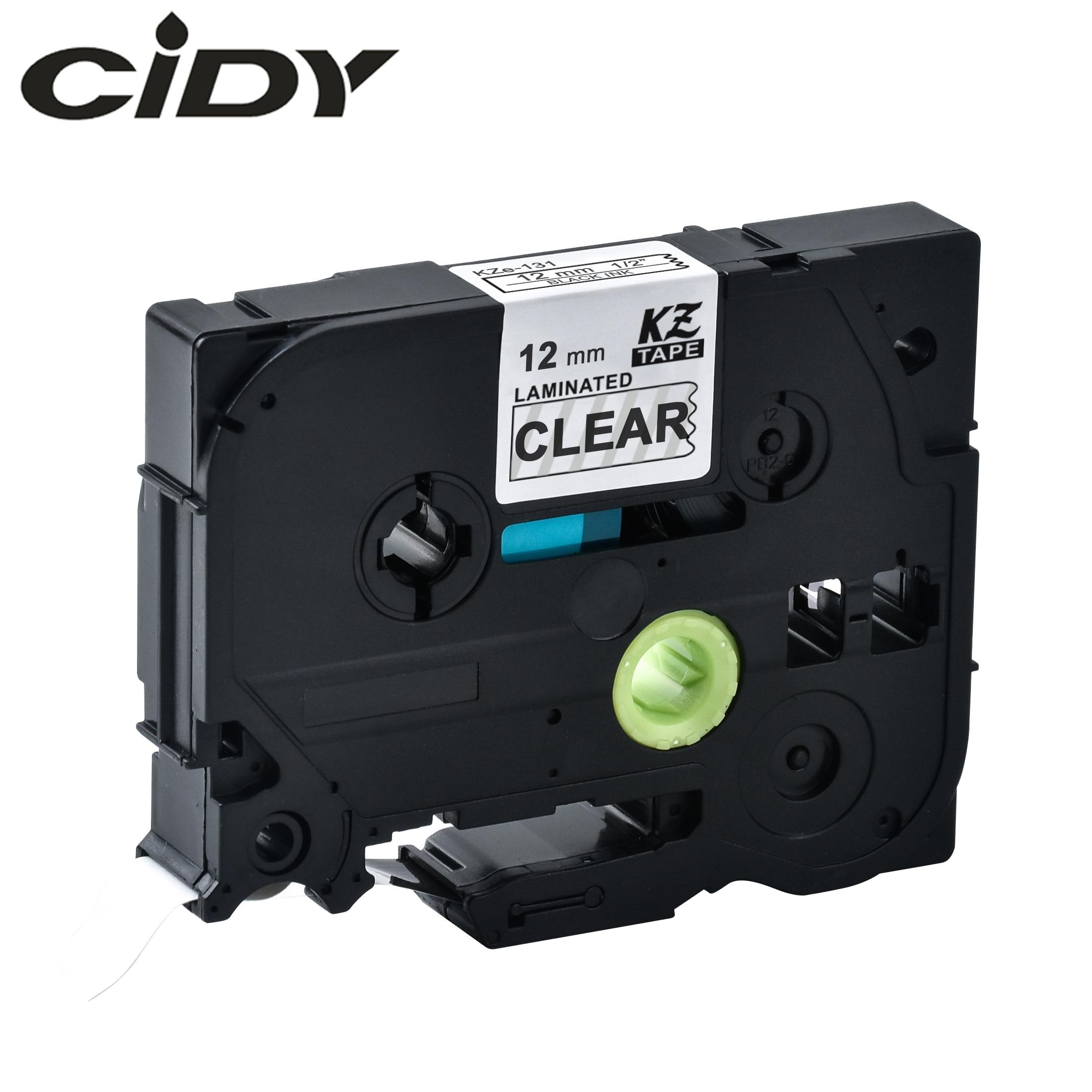 CIDY  Tze 131 Tz131 Black On Clear Laminated Compatible P Touch 12mm Tze-131 Tz-131 Tze131 Label Tape Cassette Cartridge