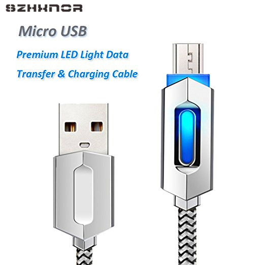 SZHXNOR LED Light Micro USB Cable Sync Data and Fast Charging Cable for xiaomi huawei sansung Galaxy s2 s3 s4 s7 edge LG nexus