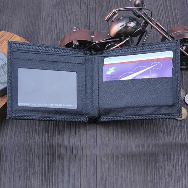 2017 Hot Sale Men Wallets Design Quality Bifold Business Famous Brand Short Style Purse Card Holder Bolsos