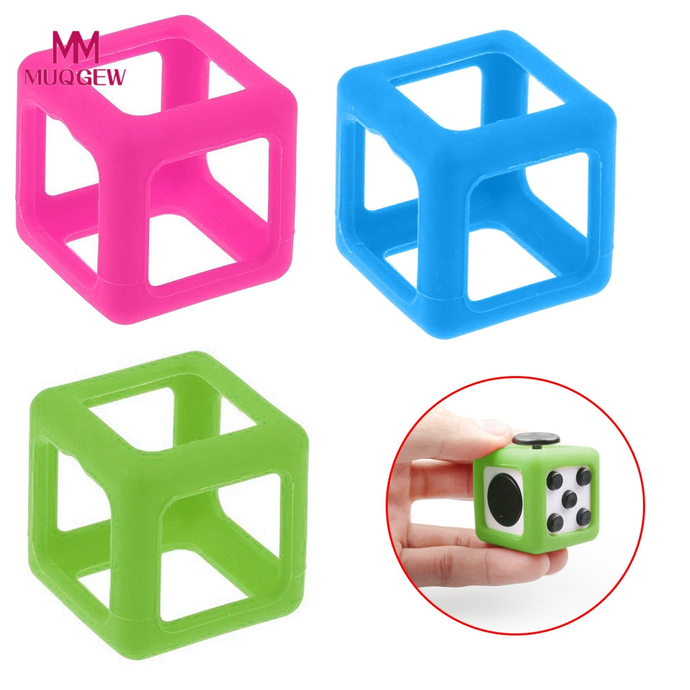 1 pcs ABS Protective Case for Fidget Cube Anxiety Stress Relief Focus Dice Cover Case Puzzle Cube Magic Cubes Toy Kid Adult Gift edc novelty stress relief toy fidget magic cube