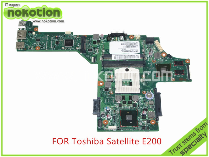 SPS V000208030 For toshiba satellite  E200 E205 Laptop motherboard Intel HM55 GeForce GT310M Mainboard nokotion for toshiba satellite a100 a105 motherboard intel 945gm ddr2 without graphics slot sps v000068770 v000069110