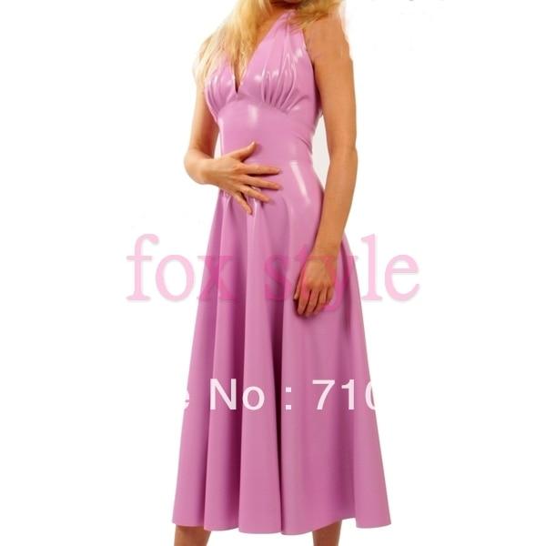 Buy sexy latex rubber handmade club dresses
