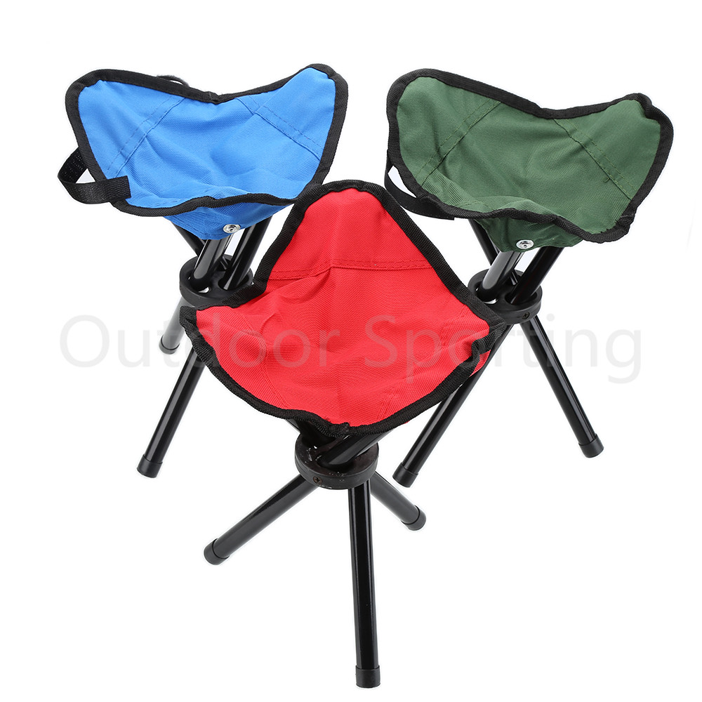 Lightweight camping chairs - Lightweight Folding Portable Outdoor Camping Hiking Fishing Stool Picnic Beach Garden Bbq Stool Tripod Three Feet