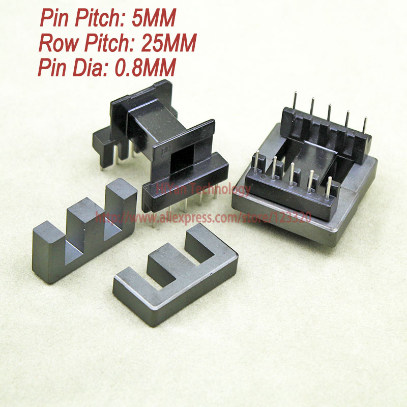5sets/lot EE30 PC40 Ferrite Magnetic Core and 5 Pins + 5 Pins Side Entry Plastic Bobbin Customize Voltage Transformer 20sets lot ee16 pc40 ferrite magnetic core and 5 pins 5 pins side entry plastic bobbin customize voltage transformer