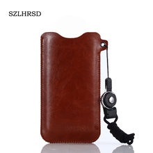 SZLHRSD for HomTom S16 5.5inch Mobile Phone Bag Case Hot selling slim sleeve pouch cover + Lanyard(China)