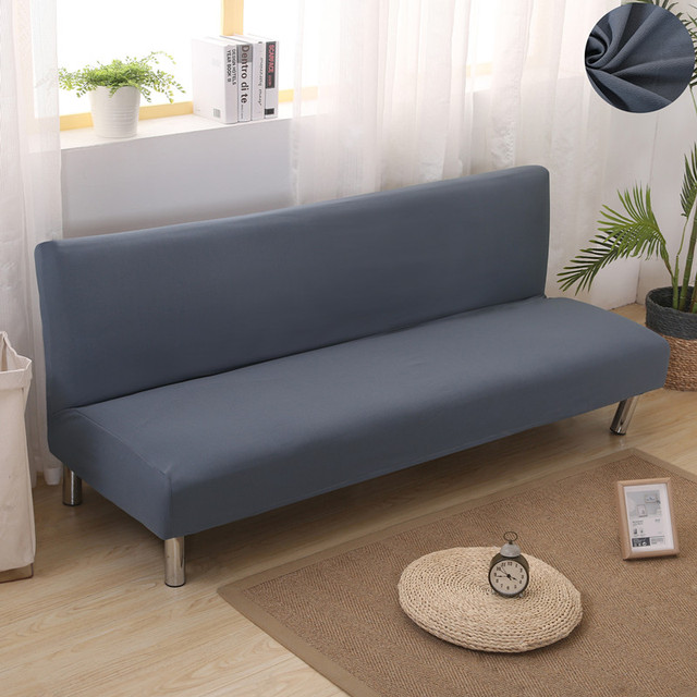 Grey Color Solid Elastic Couch Sofa Cover Loveseat Sofa Covers for ...