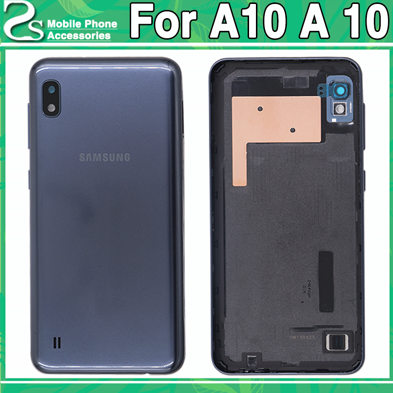 New A10 Battery Cover For Samsung Galaxy A10 Back Glass Cover Housing With Sticker Adhesive(China)