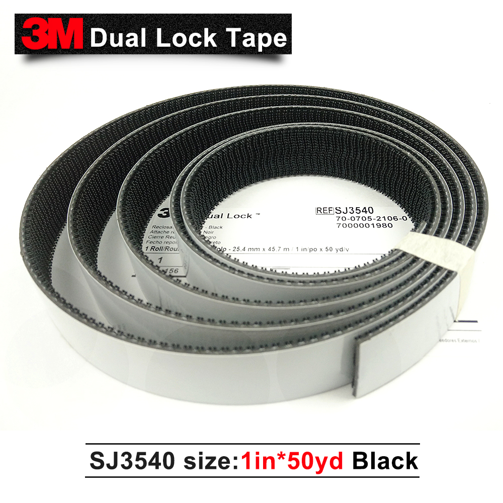 3M tape SJ3540 Dual Lock Reclosable double side adhesive self adhesive tape 1*50yards*one roll multi color 1 roll 20m marking tape 100mm adhesive tape warning marker pvc tape