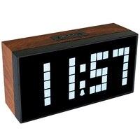 2018 Лидер продаж! Антикварные деревянные настенные часы LED Будильник в номер офиса показывают время Температура Дата Home Decor