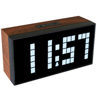 2018 Hot Sale !Antique Wooden Wall Clock Led Alarm Clock in The Bed Room Office Show Time Temperature Date home decor