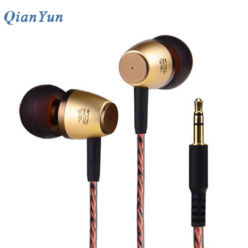 Original QianYun Qian99 In Ear Earphone Stereo Headsets HIFI Earbuds Dynamic High impedance fone de ouvido For Phones Computer original senfer dt2 ie800 dynamic with 2ba hybrid drive in ear earphone ceramic hifi earphone earbuds with mmcx interface