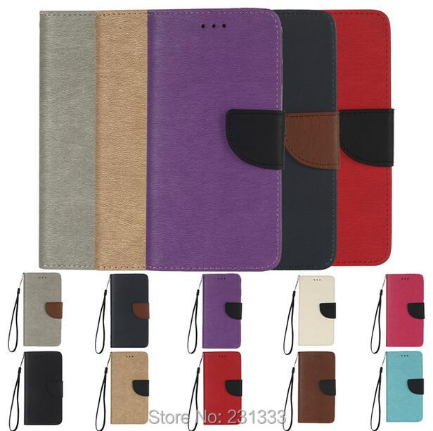 Strap Wallet Leather Pouch Case For Samsung Galaxy S7 EDGE S8 PLUS J5 J7 Prime Dual Color TPU Soft Stand Card Cover Luxury 50pcs