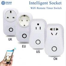 EU/US Standard Itead Wifi Smart Socket Timer Plug Outlet Remote Control Socket Smart Power Socket Plug S20
