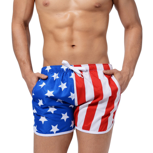 79d4b46e59 AustinBem Swimming Trunks Man American Flag Swimwear Men Shorts Mens  swimsuit Men Beach Pants Sunga Swim